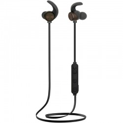 Auriculares deportivos bluetooth fonestar active-n negros - drivers 10mm - bt 4.2 -20-20000hz - 94db - control volumen - cable