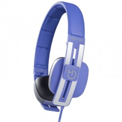 Auriculares diadema hiditec wave blue - altavoces 40mm - 103db - microfono integrado en cable - conector 3.5