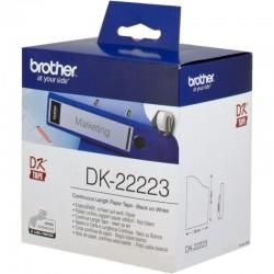Cinta continua de papel térmico dk22223 - anchura 50mm - bobina 30.48m