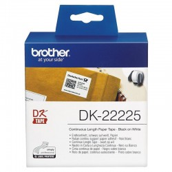 Cinta continua de papel térmico brother dk22225 - anchura 38mm - bobina 30.48m