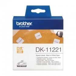 Etiquetas precortadas térmicas brother dk11221 - 23 x 23mm - para 1000 etiquetas - color blanco - compatiblidad según