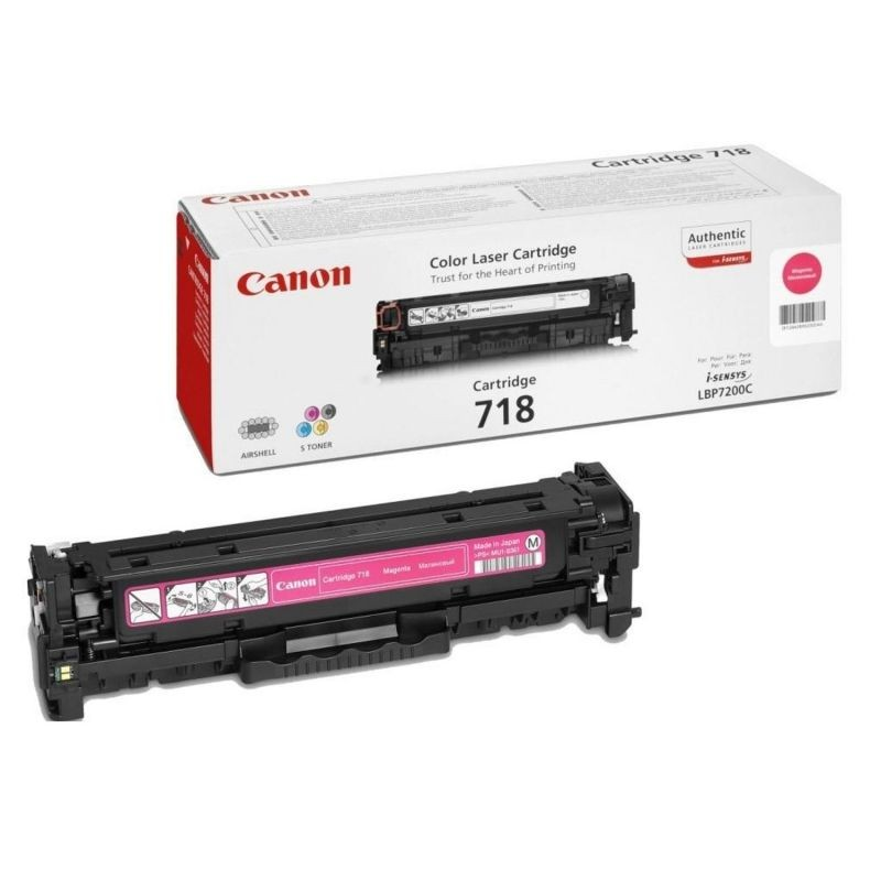 Toner magenta canon 718m - 2900 páginas - compatibilidad según especificaciones