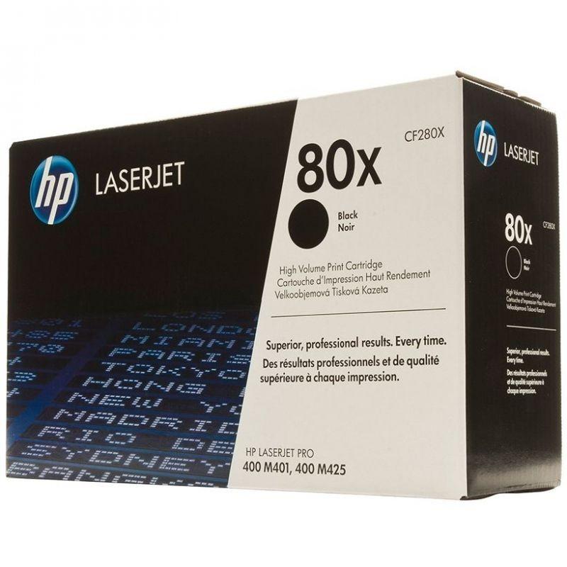 Toner negro hp nº80x 6900 páginas para hp laserjet pro 400 m401 / m425