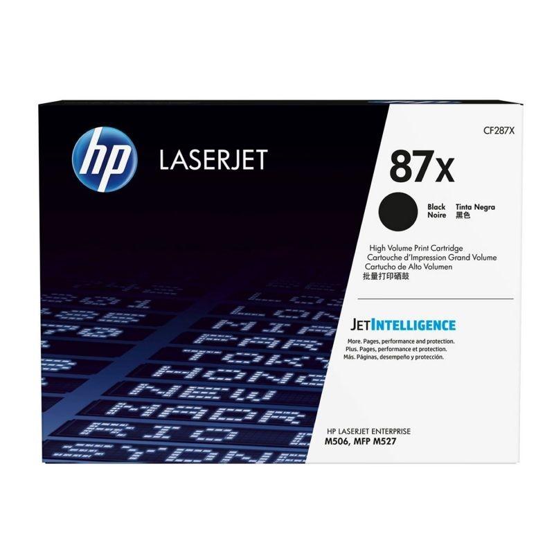 Toner negro hp cf287x jetintelligence - nº87x - 18000 páginas - compatible con laserjet enterprise m506dn/m506x/ mfp527