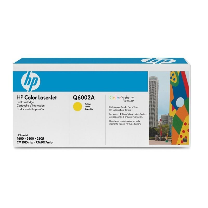 Toner hp amarillo para hp color laserjet 1600/2600/cm1015, aporx. 2500 páginas