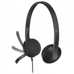 Auriculares logitech h340/ con micrófono/ usb/ negros