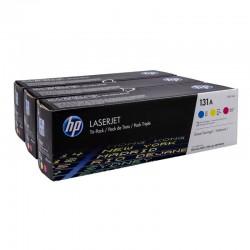 Pack toner color hp nº131a - 1xcf211a cian - 1x cf212a amarillo - 1xcf213a magenta - 1800 pag por toner - comp. con laserjet