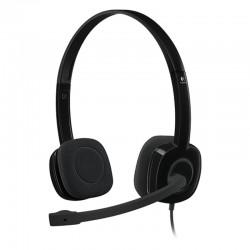 Auriculares logitech h151/ con micrófono/ jack 3.5/ negros