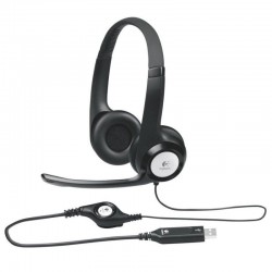 Auriculares logitech h390/ con micrófono/ usb/ negros