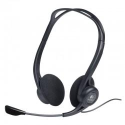 Auriculares logitech headset pc 960/ con micrófono/ usb/ negros