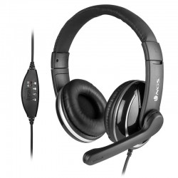 Auriculares ngs vox 800 usb/ con micrófono/ usb/ negros
