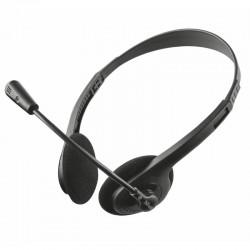 Auriculares con micrófono trust ziva chat - estéreo - peso ligero - almohadillas blandas y diadema ajustable - jack 3.5mm