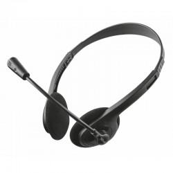Auriculares trust primo chat 21665/ con micrófono/ jack 3.5/ negros