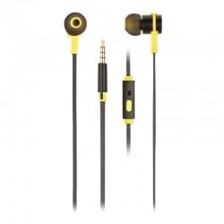 Auriculares intrauditivos ngs cross rally/ con micrófono/ jack 3.5/ negros y amarillos