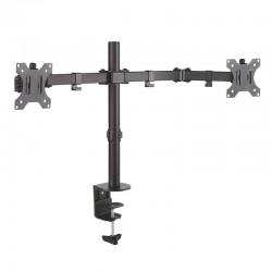 Soporte de mesa con doble brazo articulado aisens dt32tsr-041 para pantallas 13-32'/33-81cm - hasta 8kg - giratorio/inclinable