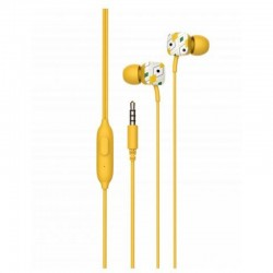 Auriculares intrauditivos spc hype/ con micrófono/ jack 3.5/ amarillos