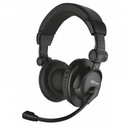 Auriculares trust como 21658/ con micrófono/ jack 3.5/ negros