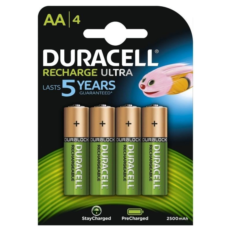 Pack de 4 pilas aa duracell hr06-p/ 1.2v/ recargables