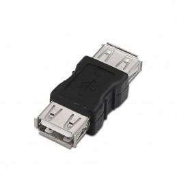 Adaptador usb 2.0 aisens a103-0037 - conectores usb tipo a hembra en ambos extremos - negro