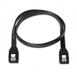 Cable sata iii aisens a130-0157 - 2*sata hembra - pletina seguridad - 50cm - negro