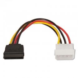 Cable de alimentación sata aisens a131-0158 - molex 4pin/m-sata hembra - 16cm - 100% cobre