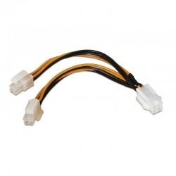 Cable de alimentación para microprocesador aisens a131-0166 - 4pin/h-4+4pin/m - 15cm - 100% cobre