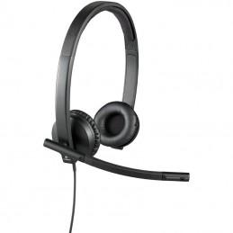 Auriculares logitech h570e/ con micrófono/ usb/ negros