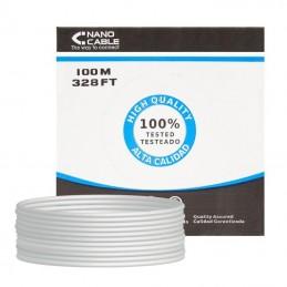 Bobina de cable rj45 ftp nanocable 10.20.0902 cat.6/ 100m/ gris