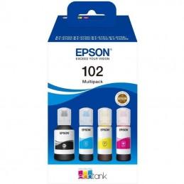 Botella de tinta original epson nº102 multipack/ negro/ cian/ amarillo/ magenta