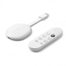 Google chromecast x1 con google tv color nieve - 4k - hdr - 60fps - hdmi - usb tipo-c - wifi ac - bt - mando control por voz