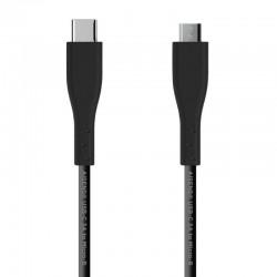 Cable usb 2.0 aisens a107-0349 - conectores usb tipo-c macho / microusb macho - 3a - 1m - negro
