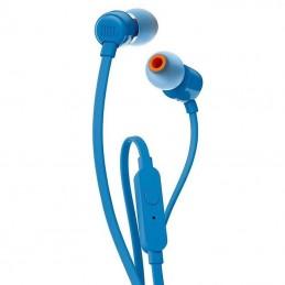 Auriculares intrauditivos jbl t110/ con micrófono/ jack 3.5/ azules