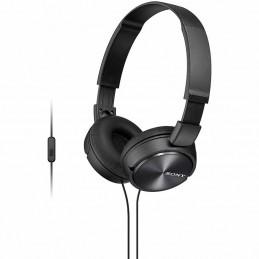 Auriculares sony mdrzx310apb/ con micrófono/ jack 3.5/ negros