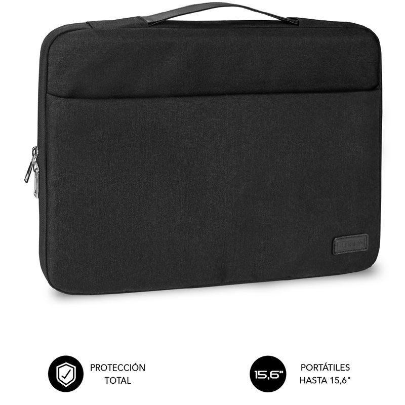 Maletín subblim elegant laptop sleeve para portátiles hasta 15.6'/ negro