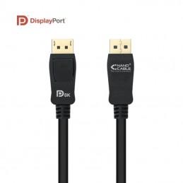 Cable displayport nanocable 10.15.2501/ displayport macho - displayport macho/ 1m/ negro