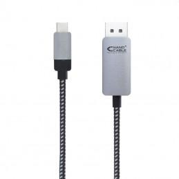Cable conversor nanocable 10.15.5002/ usb tipo-c macho - displayport macho/ 1.8m/ negro