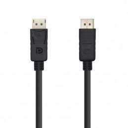 Cable displayport aisens a124-0387/ displayport macho - displayport macho/ 5m/ negro