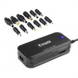 Cargador de portátil tooq tqlc-90bs02m/ 90w/ manual/ 12 conectores/ voltaje 15-24v