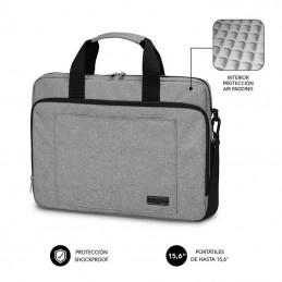 Maletín subblim air padding laptop bag para portátiles hasta 15.6'/ cinta para trolley/ gris