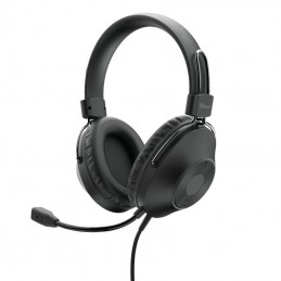 Auriculares trust hs-250/ con micrófono/ usb/ negros