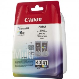 Cartucho de tinta original canon pg-40 + cl-41 multipack/ negro/ tricolor