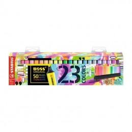 Peana de marcadores fluorescentes stabilo boss original/ 23 unidades/ colores surtidos