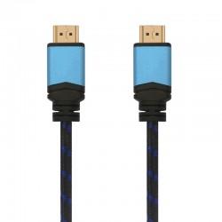 Cable hdmi aisens a120-0359 - certificado 4k hdr 60hz premium - conectores tipo a macho-macho - color negro/azul - 5m