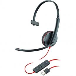 Auriculares plantronics blackwire c3210/ con micrófono/ usb/ negros