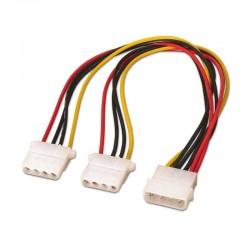 Cable duplicador de alimentación molex  aisens a131-0164 - molex 4pin/m-2*molex 4pin/h - 20cm - 100% cobre