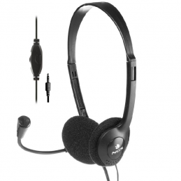 Auriculares ngs ms 103 pro/ con micrófono/ jack 3.5/ negros