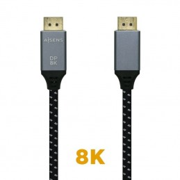 Cable displayport 1.4 8k aisens a149-0438/ displayport macho - displayport macho/ 3m/ negro gris