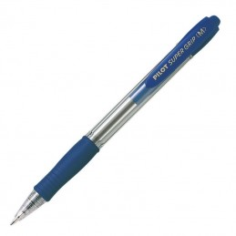 Caja de bolígrafos de tinta de aceite retráctil pilot super grip m/ 12 unidades/ azules