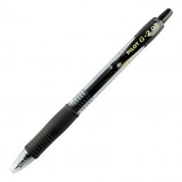 Caja de bolígrafos de tinta de gel retráctil pilot g-2/ 12 unidades/ negros