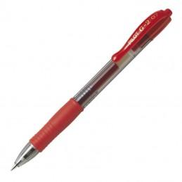 Caja de bolígrafos de tinta de gel retráctil pilot g-2/ 12 unidades/ rojos